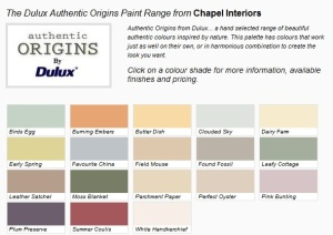 Dulux designer paint, the authentic range