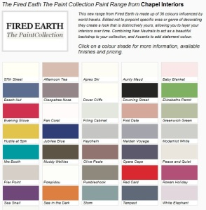 designer paint from Fired Earth