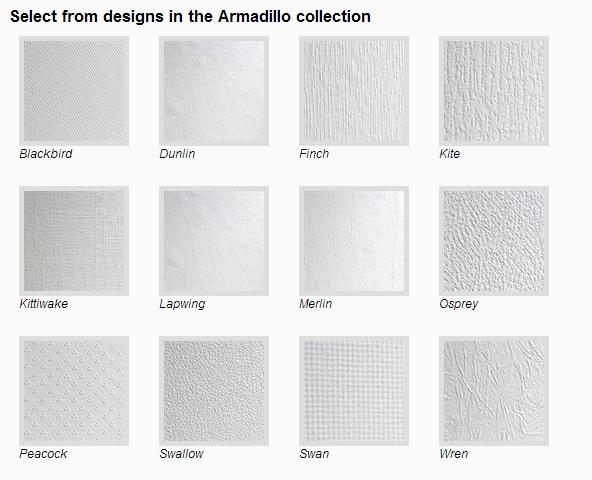 Anaglypta designer wallpaper (Armadillo collection)