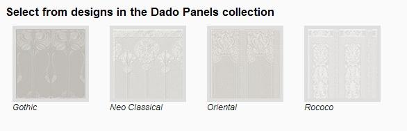 Anaglypta designer wallpaper (Dado Panels)