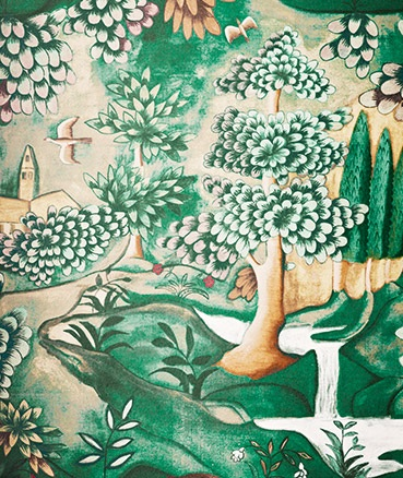 Designer wallpaper printed by Melissa White and Zoffany