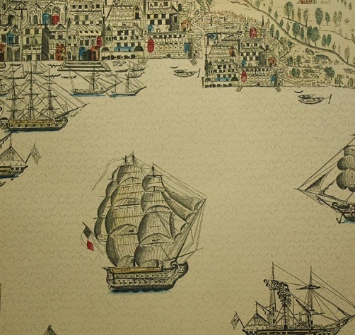 Zoffany wallpaper, this is Trade Routes